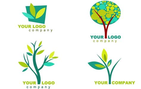 collection of nature logos and icons free vector logo