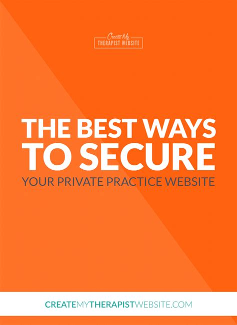 the best ways to secure your practice website