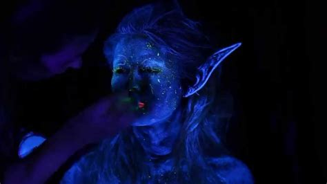 blacklight fairy makeup tutorial and photoshoot youtube