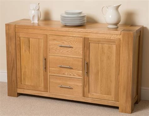 Solid Oak Sideboard Oak Sideboard And Sideboard Cabinet Ls For Dining Room Buffet