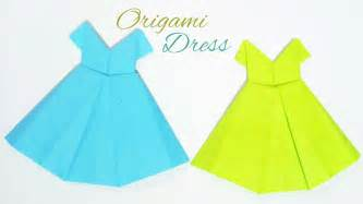Paper Dress Craft - origami dress diy paper frock craft no my