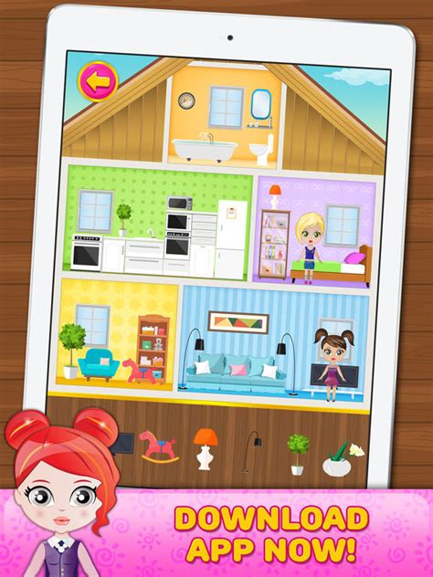 home decorating games for girls app shopper doll house decorating game for little girls