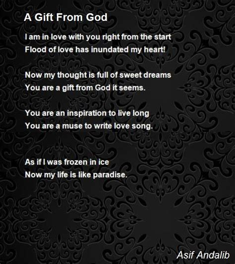poems for from a gift from god poem by asif andalib poem