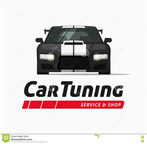 Tuning Sticker Vector by Car Tuning Shop Vector Banner Sticker Auto Service