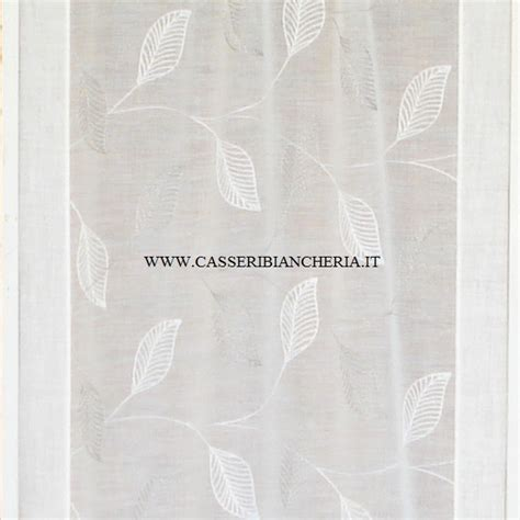 tende ricamate tessuto per tendine foglie ricamate grige casseri biancheria