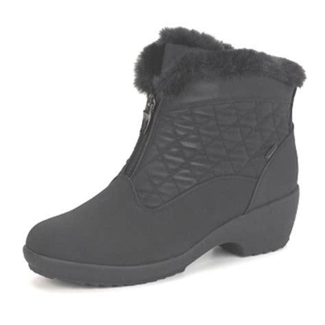 sporto snow boots womens sporto 174 s front zip booties black 129163