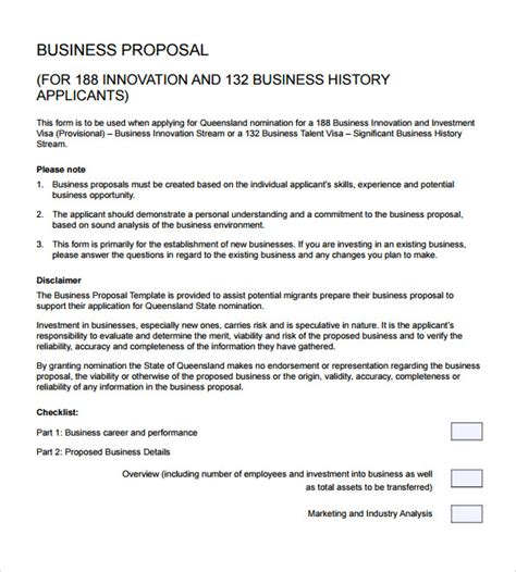 Sle Business Proposal 18 Documents In Pdf Word Business Template Pdf