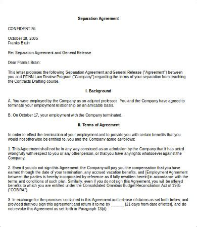 Compensation Agreement Template Work Agreement Template 9 Free Word Pdf Documents Download Compensation Template
