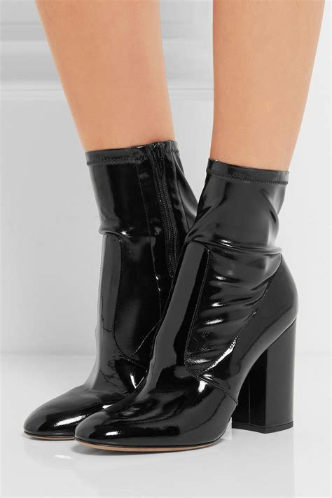 valentino patent leather ankle boots net a porter