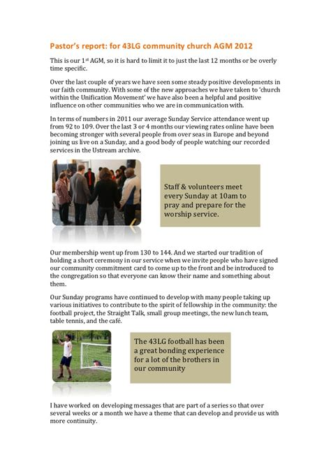 agm report sle 43lg community church agm report 2012