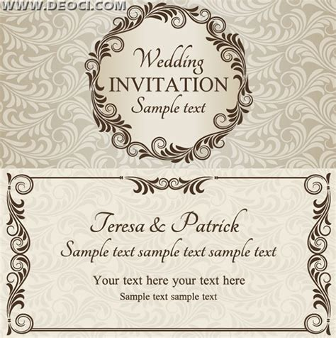 free card designs templates wedding invitation card design template free