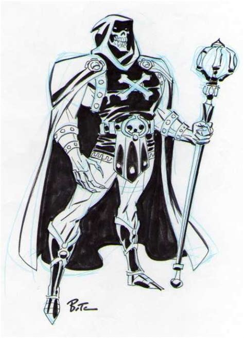test di bruce skeletor by bruce timm masters of the universe