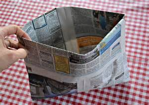 Paper Bags From Newspaper - make a newspaper bag the green dragonfly
