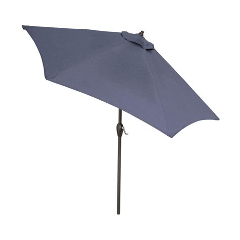 hton bay 9 ft aluminum patio umbrella in sky blue with
