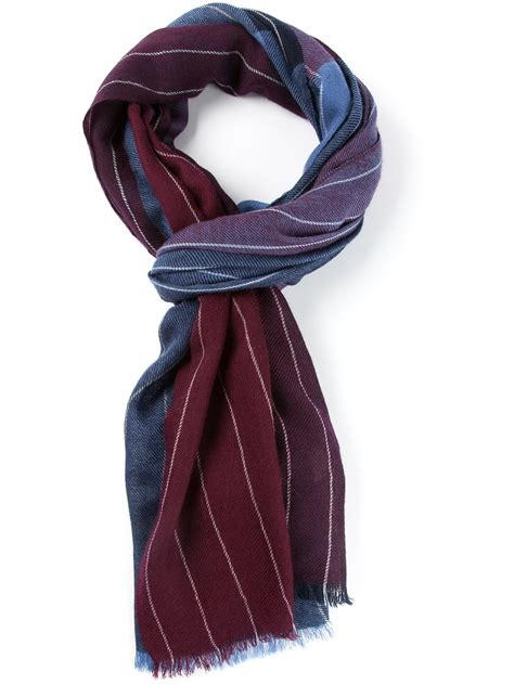 ferragamo scarf in multicolor for blue lyst