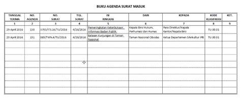 format buku agenda contoh format buku program gontoh