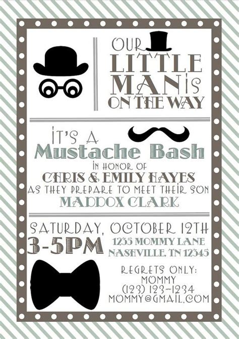 little man baby shower invitations theruntime com