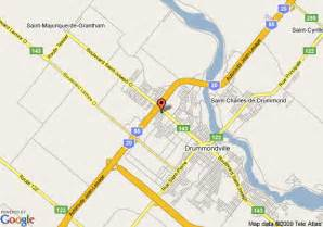 maps canada driving directions drummondville map and drummondville satellite image