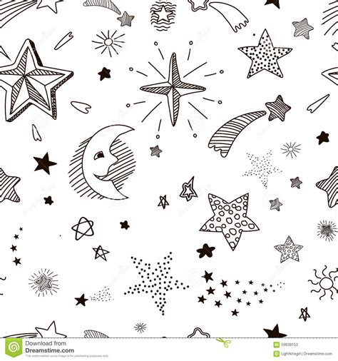 doodle vector ai seamless pattern with doodle stock vector