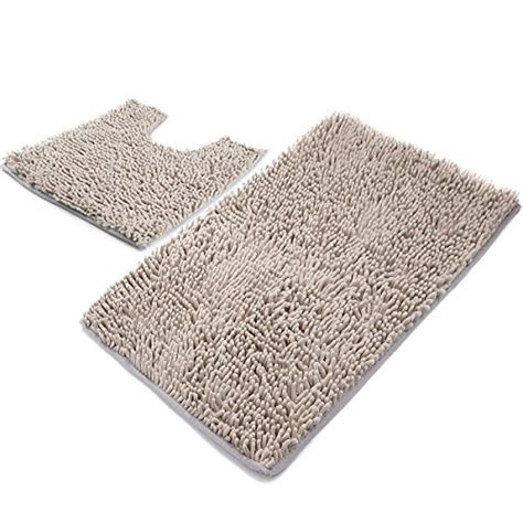 vdomus non slip microfiber shag bath mat bathroom mats vdomus microfiber bathroom rugs set 2 piece shaggy non