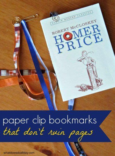 How To Make A Paper Clip Bookmark - 162 best images about bookmarks on bookmark