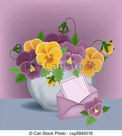 viole in vaso viole pensiero vaso scheda viole pensiero busta