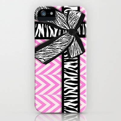Trend Ribbons And Bows by Girly Zebra Ribbon Bow Pink Chevron Stripes Iphone