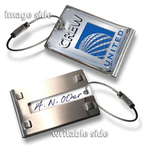 american airlines printable luggage tags united airlines crew luggage tag metal ebay
