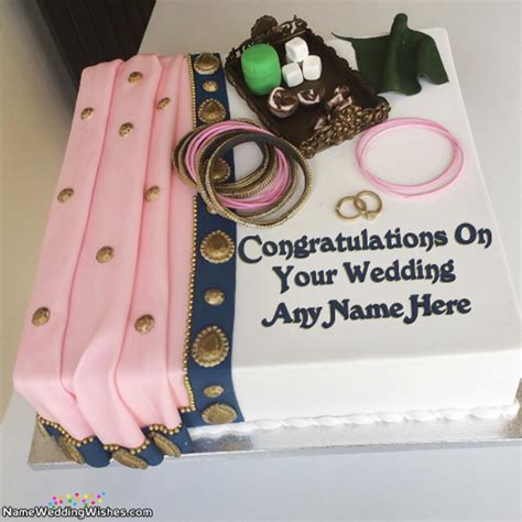 Wedding Cake With Name by Beautiful Congratulation On Your Wedding Cake With Name