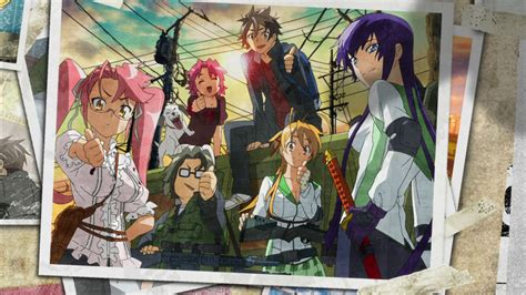 anime zombie school highschool of the dead computer wallpapers desktop
