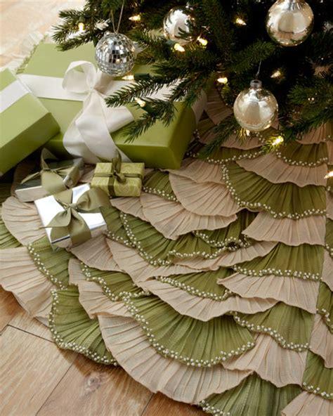 natural sage ruffled christmas tree skirt