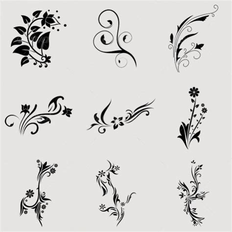 flower tattoo vector free 18 tribal designs jpg psd ai illustrator download