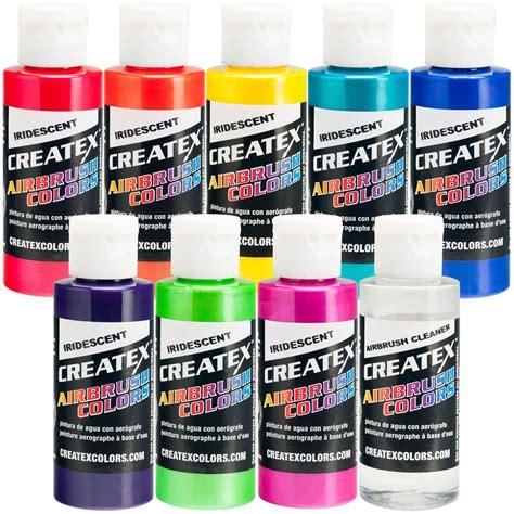 createx airbrush colors createx 8 colors 2oz iridescent airbrush paint kit hobby