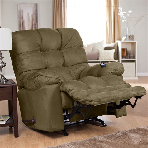 modern family chair living room rocker recliner chair with brown curtain and