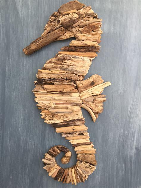 Driftwood Decor by Driftwood Seahorse Coastal Wall Decor
