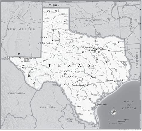 texas geographic map texas tabletop map national geographic society