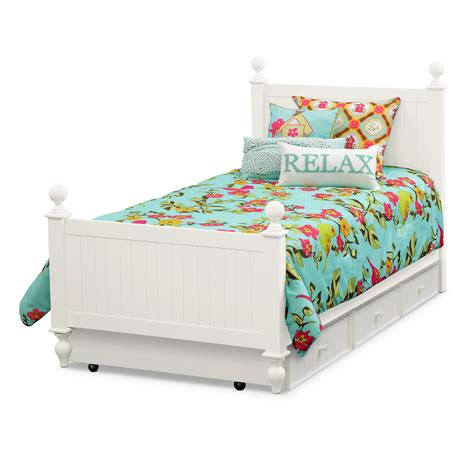 white twin beds colorworks white twin bed with trundle value city furniture