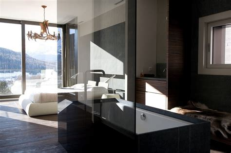 posh minimalist apartment  stunning views   swiss
