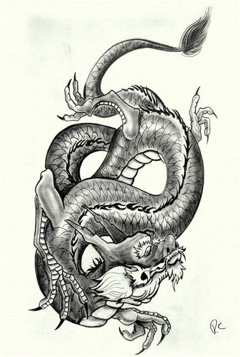 black and grey dragon tattoo designs simson tattoo