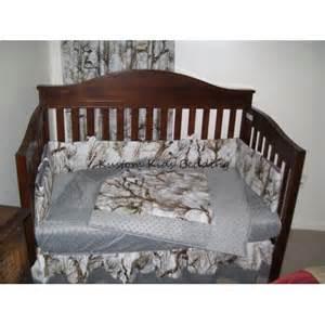white camouflage crib bedding set w grey minky dot