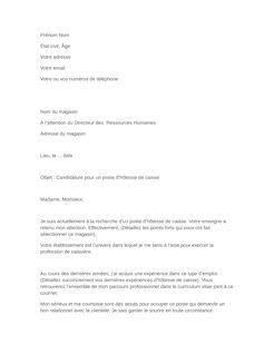 Exemple De Lettre De Motivation Hotesse De Caisse Candidature Spontanée Faire Sa Lettre De Motivation