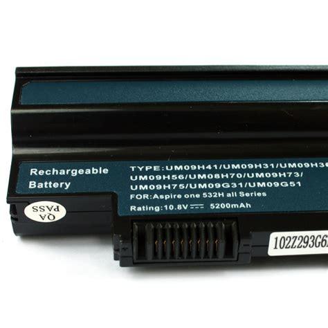 Bateray Notebook Aspire One 532h Bk Original um09g31 um09h31 replacement battery fo acer aspire one