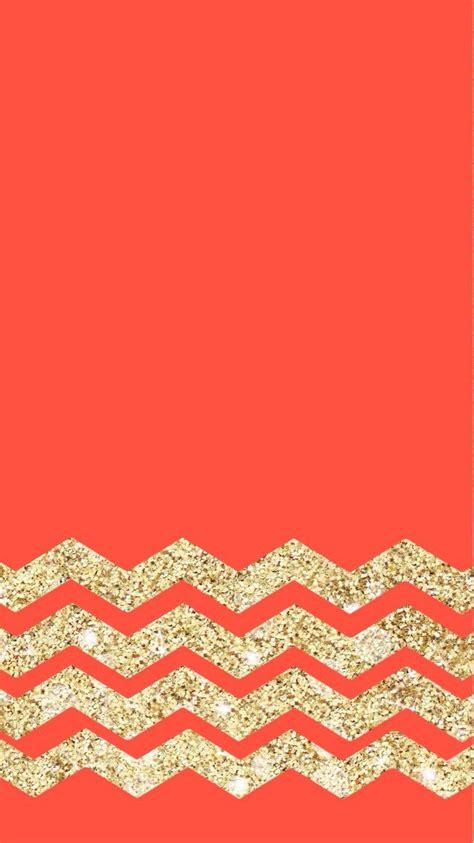 wallpaper glitter chevron red coral gold chevron glitter iphone wallpaper color