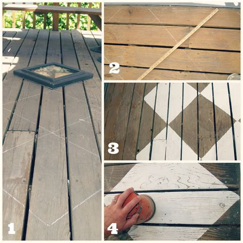 outdoor space makeover painted floors diy drop cloth shade