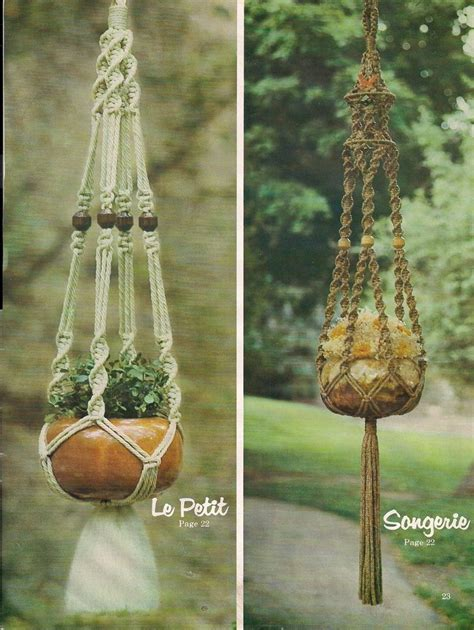 Macrame Patterns Plant Hangers - plant hanger patterns many variations book only
