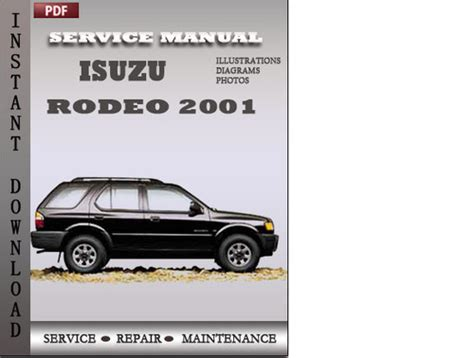 2001 Isuzu Rodeo Repair Manual Isuzu Rodeo 2001 Factory Service Repair Manual