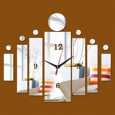 Square Living Room Clocks 2016 New 3d Wall Clock Home Modern Design