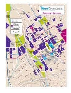 Downtown San Jose Map by Downtown San Jose Parking And Maps San Jose Innovation