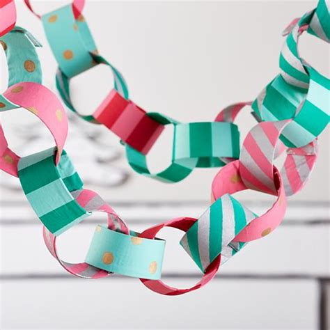 How To Make Paper Garland Decorations - creative ways to save money on decorations