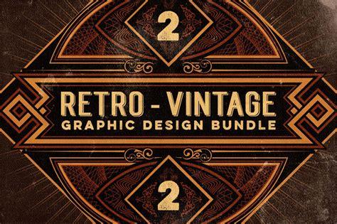 retro photos last chance bundle of 500 retro vintage design elements